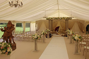Indian wedding marquee with Mandap