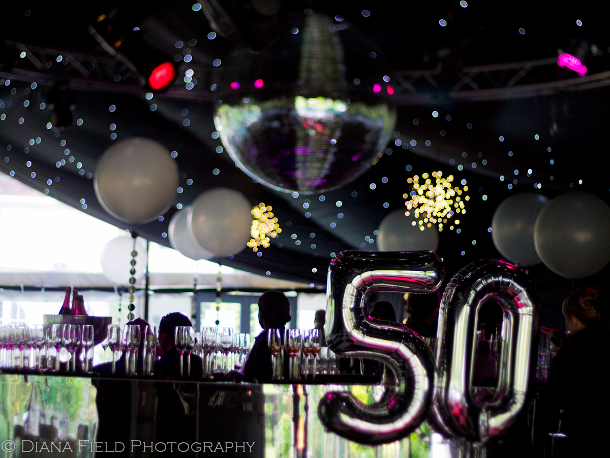 50th birthday party in a marquee