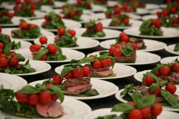 Fabulous wedding catering at a wedding reception arranged and catered by Creative Catering and Marquees of Winchester